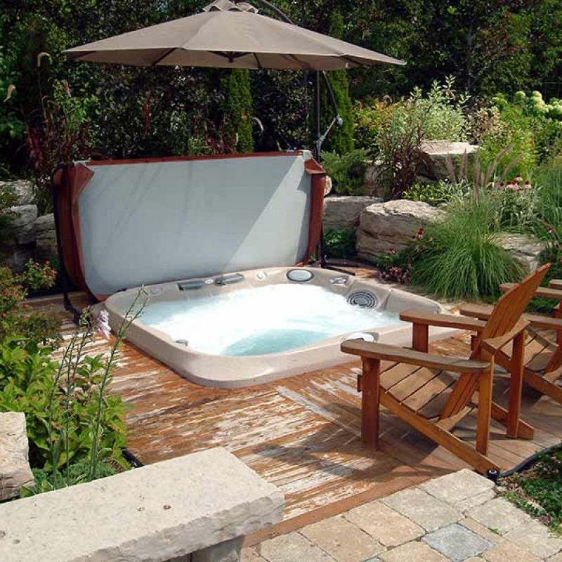 outdoor hot tub in prince george, BC